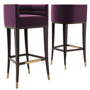 3D model maa bar stool -