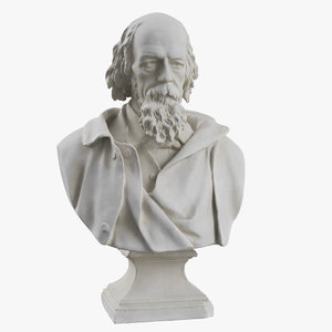 sculpture bust tennyson 3D model