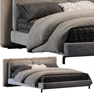 3D model minotti bed tatlin soft