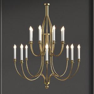 hammerton ch9223 chateau chandelier 3D