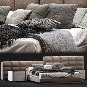 3D minotti lawrence bed model