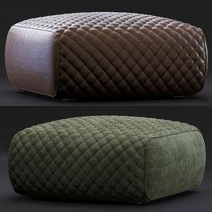 3D minotti pouf ashley