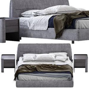 bed poliform jacqueline 3D model