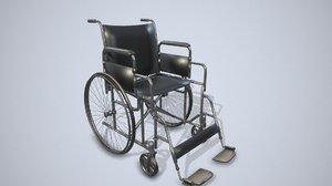 wheelchair pbr modeled 3D model