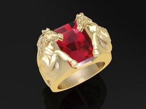 3D model horse ring