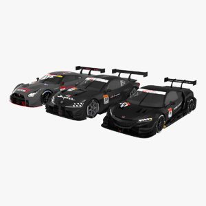 3D race cars honda nsx
