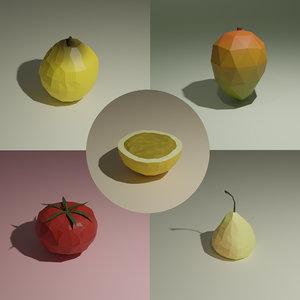 mango nashi pear 3D model