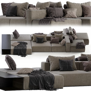 poliform westside divano jean 3D model