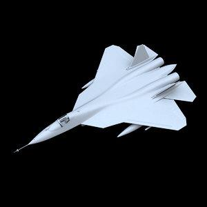 sukhoi su-57 pak-fa stealth fighter model