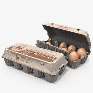 3D eggs cartons