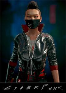 3D model cyberpunk girl