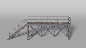 railway platform 3D