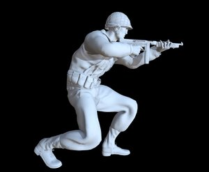 soldier ww2 printable model