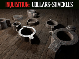 3D model inquisition collar shackles