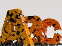 Collapsing damaged alphabet