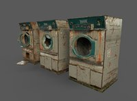 Old Dryers Of The Abandoned Hospital