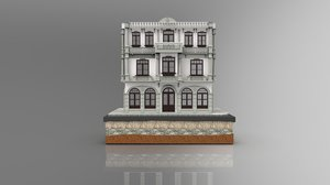 3D model istanbul stone building