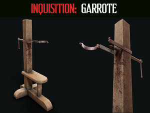 3D inquisition garrote model