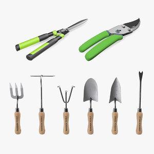 3D garden hand tools model