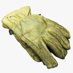 3D model used gardening gloves