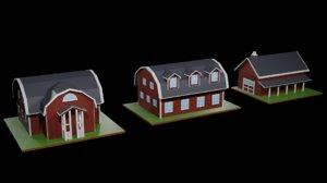3D pack farmhouses
