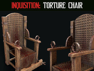 3D inquisition chair torture model