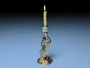 roman candlestick 3D model