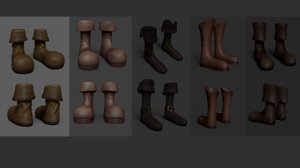 05 boots - pack 3D