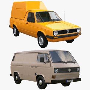 caddy transporter t3 3D model