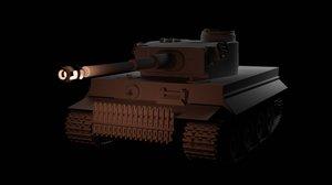 3D model tiger 1