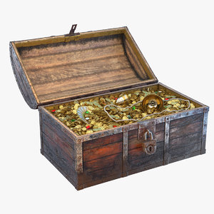 pirate treasure chest 3D model