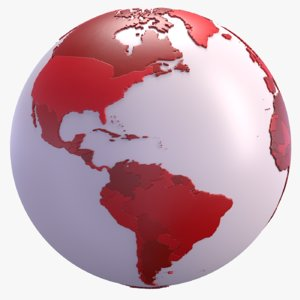 3D model geopolitical world