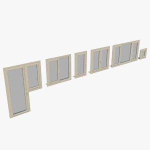 pvc window 3D model