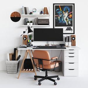 workplace decor 1 3D model