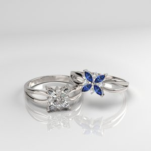 3D flower ring print