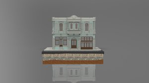 3D istanbul stone building model