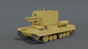 3D british bishop tank