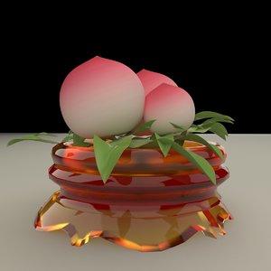 chinese peach 3D model