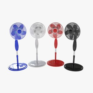 3D pedestal fans double bladed