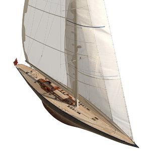 endeavour j-class yacht 3D