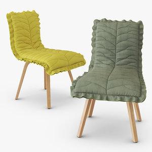 3D leaf chair model