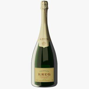 krug grand cuve champagne 3D