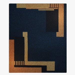 art deco style carpet 3D model