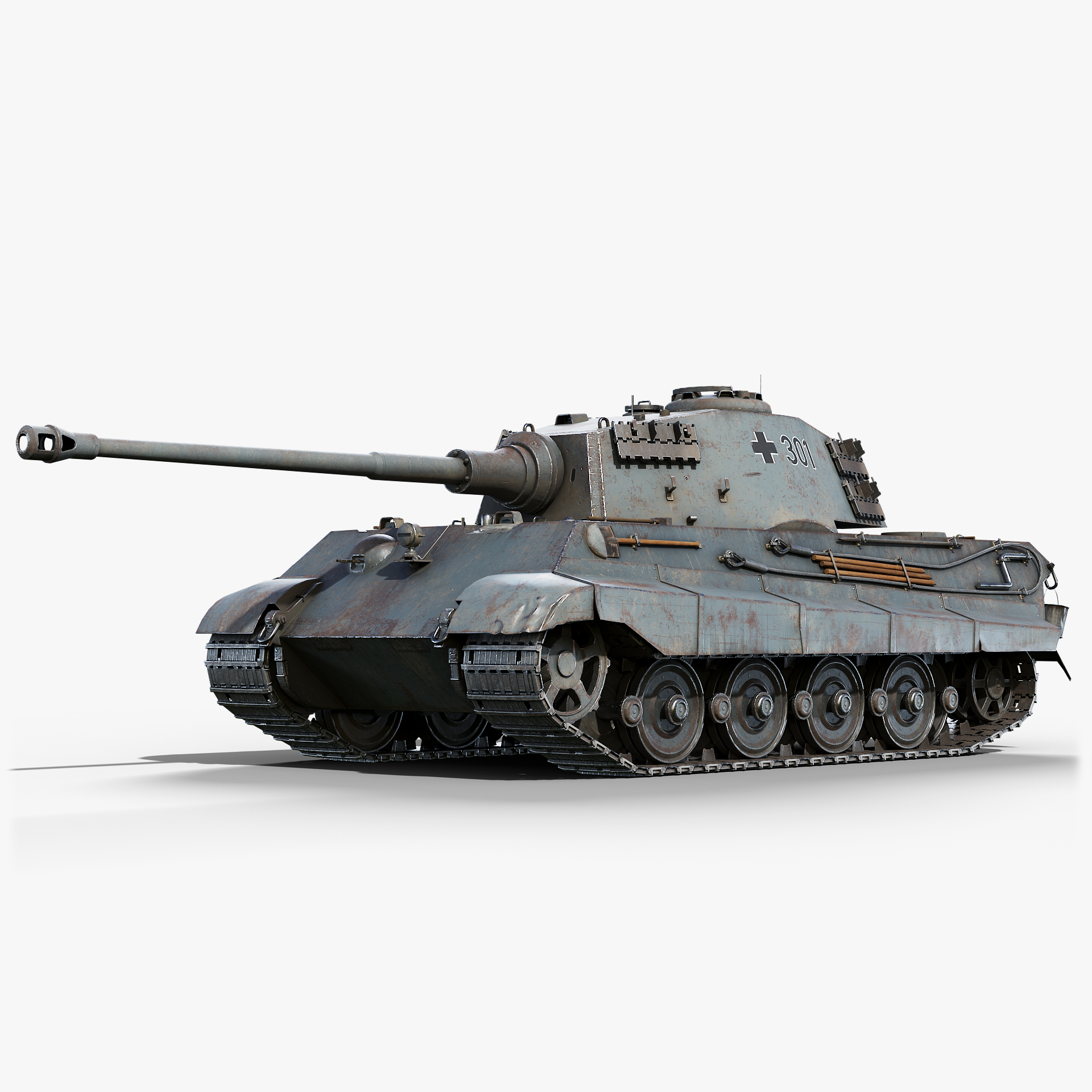 tiger ii gameready 3D model