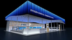 modern international exhibition stand 3D model