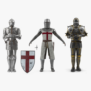 3D medieval knight plates armor