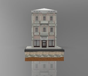 3D istanbul stone building