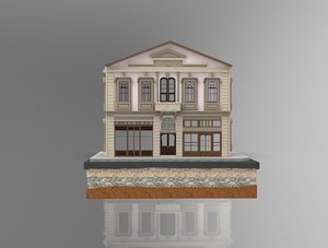istanbul stone building 3D model