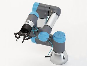 3D universal robots collaborative ur3 model