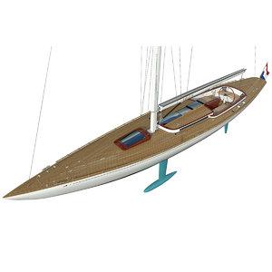 yacht leonardo eagle 54 3D